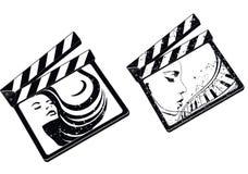 Cuadrado de la película ilustración del vector