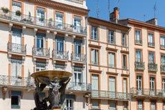Cuadrado de la trinidad en Toulouse, Francia Fotos de archivo libres de regalías
