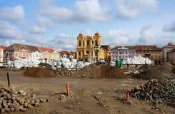 Cuadrado de la unión (cuadrado de Unirii) en Timisoara, Rumania Foto de archivo libre de regalías
