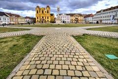 Cuadrado de la unión del ` s de Timisoara, Rumania fotos de archivo libres de regalías