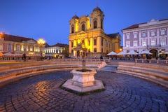 Cuadrado de la unión, Timisoara, Rumania imagen de archivo