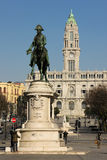Cuadrado de Liberdade. Oporto. Portugal Fotos de archivo