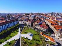 Cuadrado de Lisboa en Oporto Imagen de archivo libre de regalías