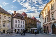 Cuadrado de Ljubljana imagenes de archivo
