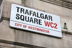 Cuadrado de Londres Trafalgar Imagen de archivo