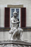 Cuadrado de Lorenzo del santo en Florencia Fotos de archivo libres de regalías