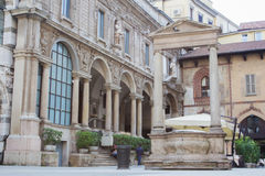 Cuadrado de los comerciantes de Milán Imagenes de archivo