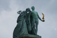Cuadrado de los héroes - Budapest Imagen de archivo