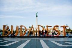 Cuadrado de los héroes, Budapest imagenes de archivo