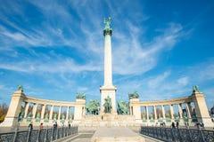 Cuadrado de los héroes, Budapest Foto de archivo