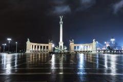 Cuadrado de los héroes, Budapest Imagen de archivo
