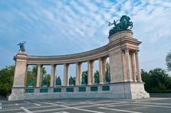 Cuadrado de los héroes, Budapest Fotografía de archivo libre de regalías