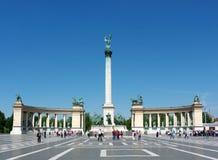 Cuadrado de los héroes, Budapest, Hungría Foto de archivo libre de regalías