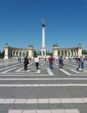 Cuadrado de los héroes, Budapest, Hungría Fotos de archivo libres de regalías