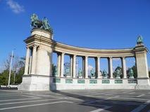 Cuadrado de los héroes en Budapest Fotografía de archivo libre de regalías