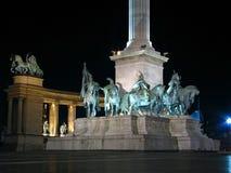 Cuadrado de los héroes, Budapest Fotografía de archivo