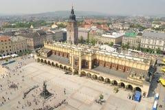 Cuadrado de mercado de Kraków Imágenes de archivo libres de regalías