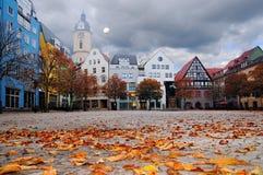 Cuadrado de mercado en Jena, Thuringia, Alemania Fotografía de archivo libre de regalías