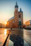Cuadrado de mercado en Kraków Fotografía de archivo libre de regalías