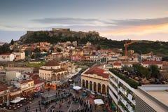 Cuadrado de Monastiraki, Atenas Fotos de archivo libres de regalías