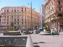 Cuadrado de Nápoles Bovio Foto de archivo libre de regalías