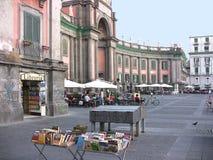 Cuadrado de Nápoles Dante fotografía de archivo
