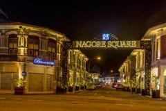 Cuadrado de Nagore en Penang Imágenes de archivo libres de regalías