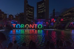 Cuadrado de Nathan Phillip en Toronto Imágenes de archivo libres de regalías
