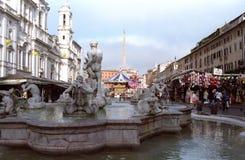 Cuadrado de Navona en Roma Imagen de archivo libre de regalías