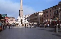 Cuadrado de Navona en Roma Fotografía de archivo libre de regalías
