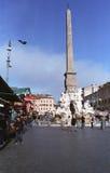 Cuadrado de Navona en Roma Foto de archivo libre de regalías