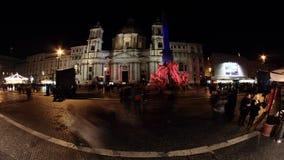 Cuadrado de Navona en Roma almacen de metraje de vídeo