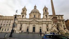 Cuadrado de Navona de la plaza en Roma almacen de metraje de vídeo