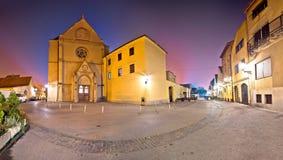 Cuadrado de Opatovina en la opinión de la tarde de Zagreb Fotografía de archivo