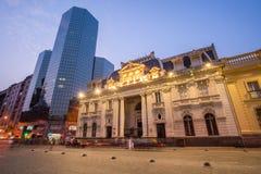 Cuadrado de Plaza de las Armas en Santiago Imágenes de archivo libres de regalías