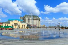Cuadrado de Poshtova en Kiev Fotografía de archivo