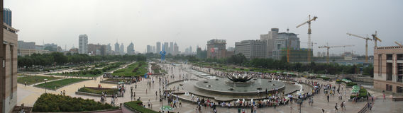 Cuadrado de Quancheng, Jinan, China imagenes de archivo