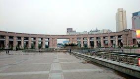 Cuadrado de Quancheng, Jinan Shandong, China Foto de archivo libre de regalías