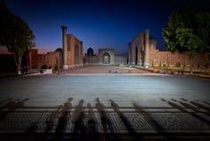 Cuadrado de Registan en Samarkand Imágenes de archivo libres de regalías