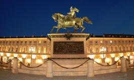 Cuadrado de San Carlo en Turín, ÉL Imagen de archivo