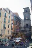 Cuadrado de San Cayetano en Nápoles fotos de archivo libres de regalías