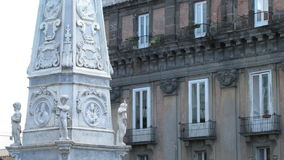 Cuadrado de San Domenico Maggiore, Nápoles, Italia Imágenes de archivo libres de regalías