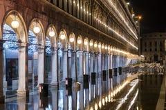 Cuadrado de San Marco en la noche - Italia Foto de archivo libre de regalías
