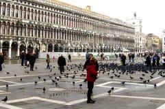 Cuadrado de San Marco en Venecia imagen de archivo libre de regalías