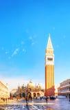 Cuadrado de San Marco en Venecia, Italia Fotos de archivo libres de regalías