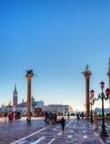 Cuadrado de San Marco en Venecia, Italia Imágenes de archivo libres de regalías