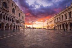 Cuadrado de San Marco en Venecia Italia fotografía de archivo libre de regalías