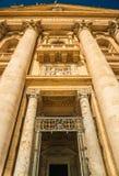 Cuadrado de San Pedro en la Ciudad del Vaticano imagen de archivo libre de regalías