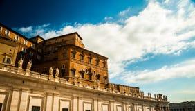 Cuadrado de San Pedro en la Ciudad del Vaticano imágenes de archivo libres de regalías