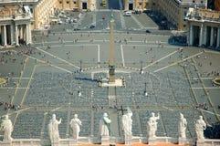 Cuadrado de San Pedro, Vatican Foto de archivo libre de regalías